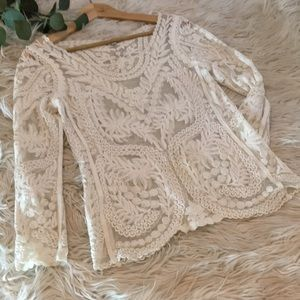Express lace blouse   size small
